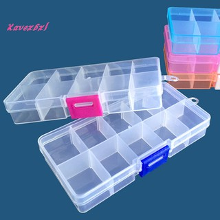 XAVE 10 Grids Transparent Beads Screws Bit Parts Jewelry Holder Tool Case Storage Box