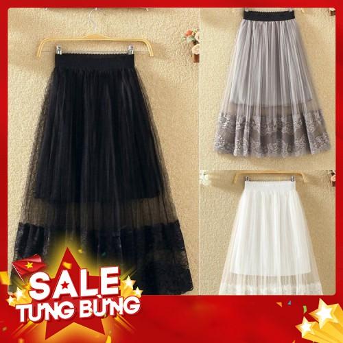 Chân váy ren xếp ly xinh xắn thời trang - Hàng nhập khẩu