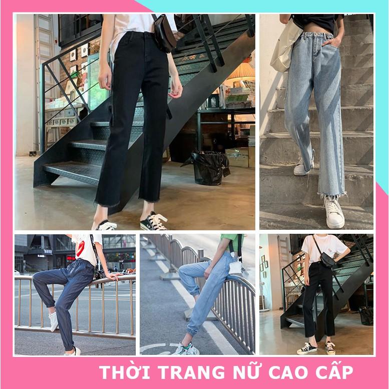 Quần jean nữ cạp cao ống rộng , quần bò nữ ống rộng , quần bò ống rộng nữ lưng cao hot teen 2020 nhiều mẫu