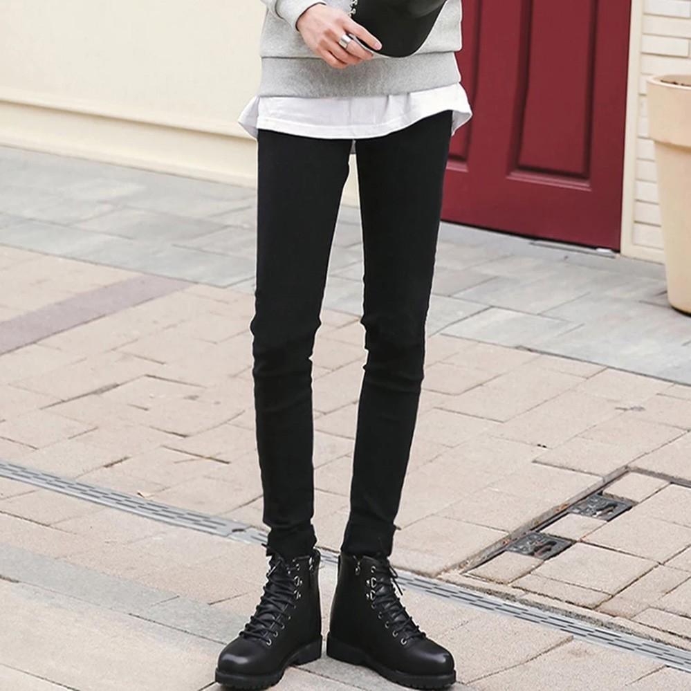 [Feeship] quần jeans đen rách tua rua