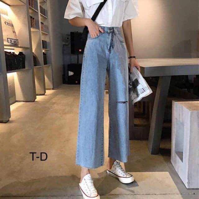 Quần Jeans Ống Suông Bigsize 30-35