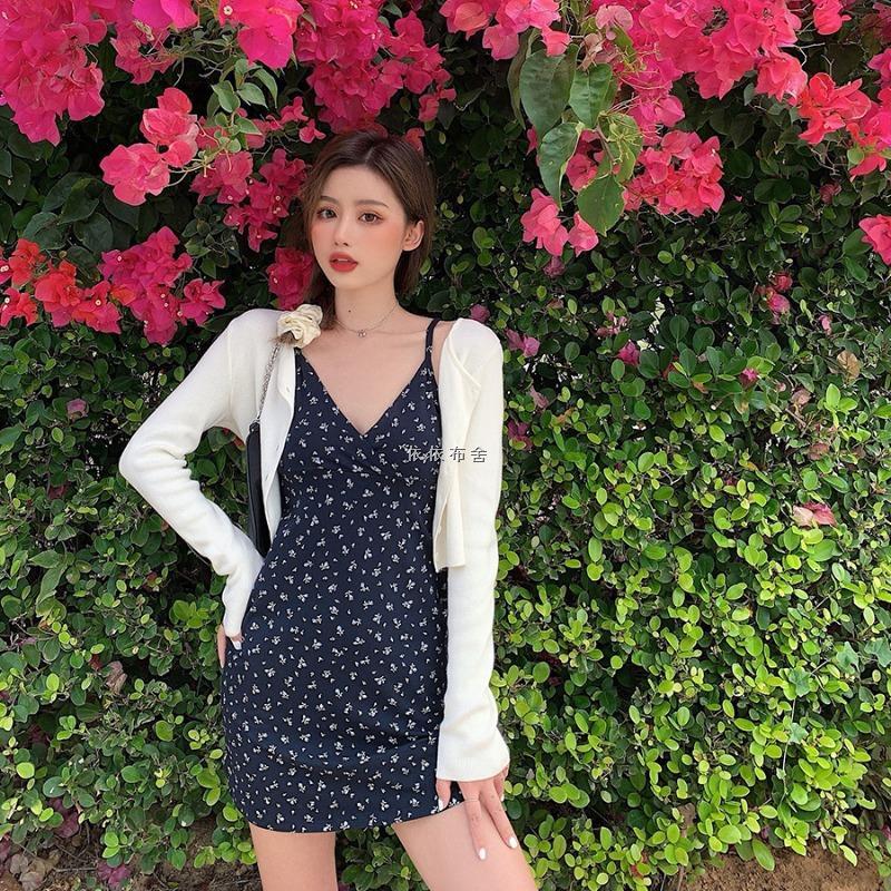 Set Áo Sweater Và Chân Váy Hoa Thời Trang Xinh Xắn Cho Nữ