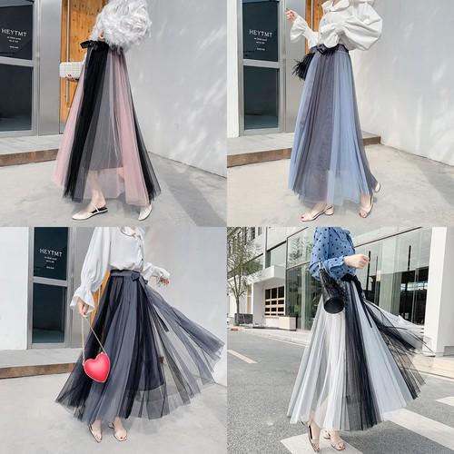 Chân Váy Dài Lưng Cao Thời Trang Cho Nữ