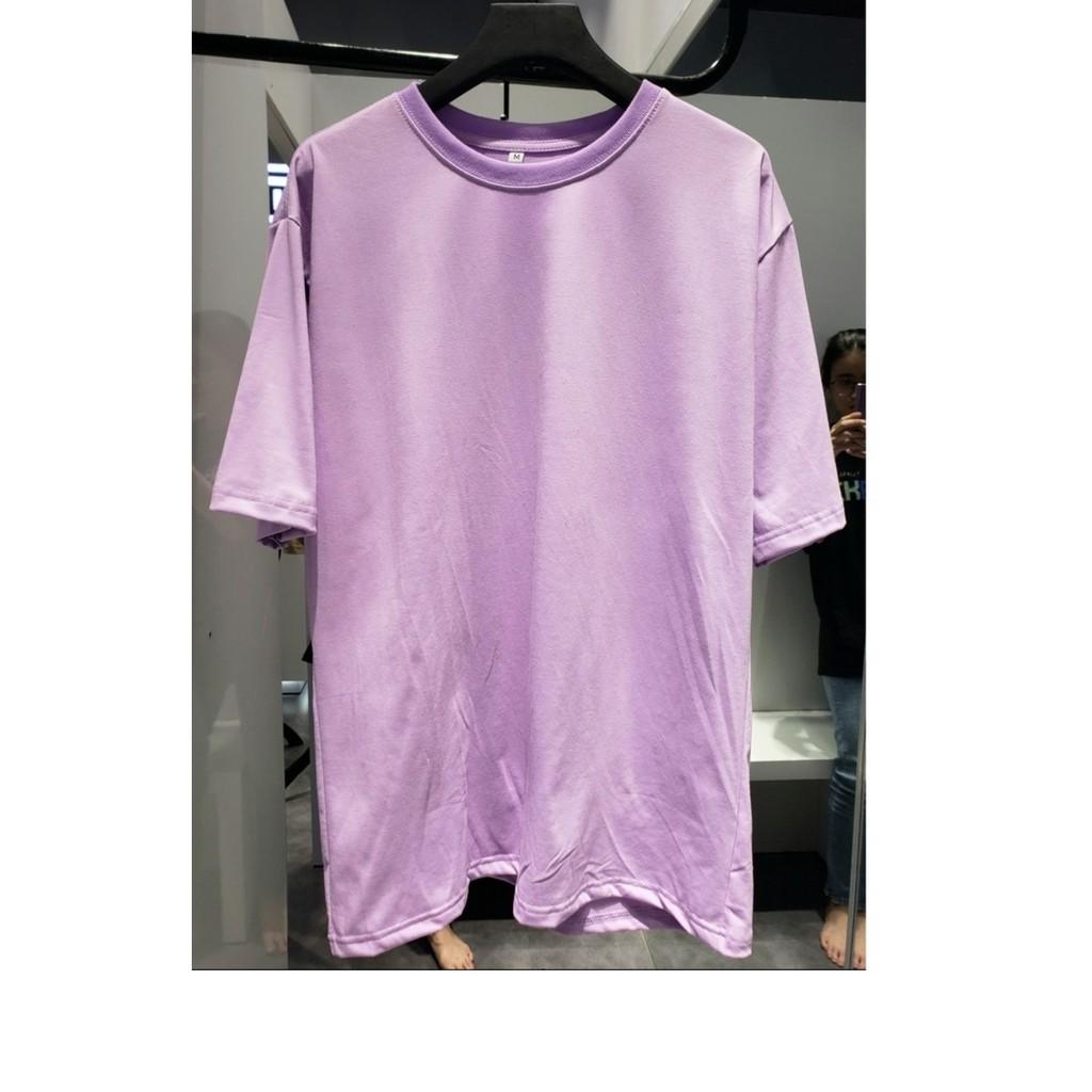 áo thun tay lỡ màu tím môn nam & nữ FOME RỘNG có chọn size, chất thun xịn 33l-vm07