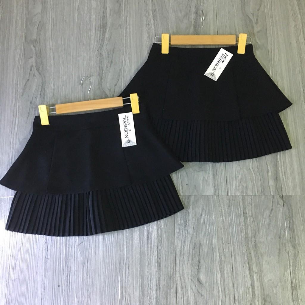 [1 TẦNG LY] Chân váy hai tầng DẬP LY sang chảnh( có lót quần,ảnh thật)