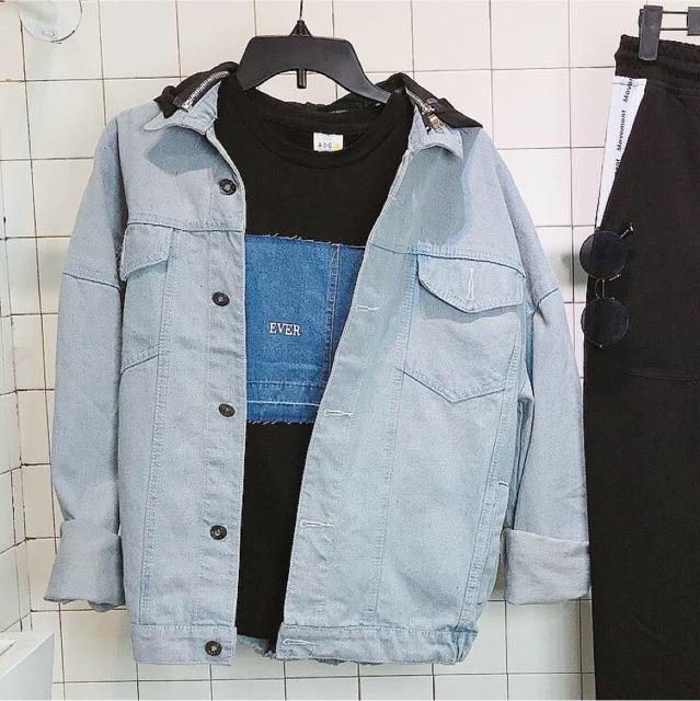 Áo Khoác Jean + Quần Jean + áo Thun