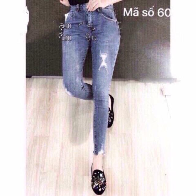 quần jean nữ xước nhẹ cực xinh