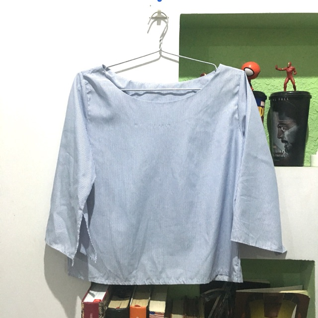 Áo sọc xanh