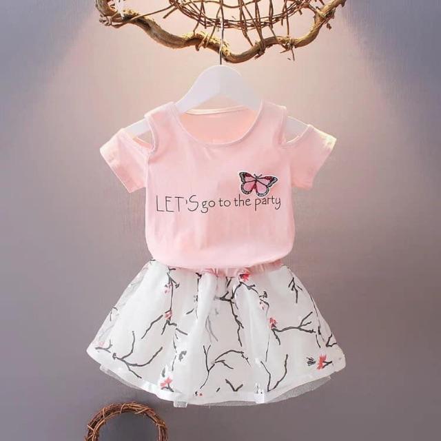 ODER Set chân váy và áo phông cho bé