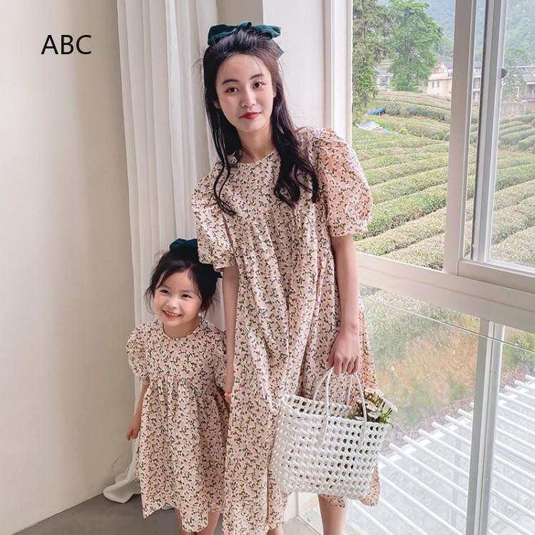 Breathable Parent-child Dress Spot Girl Selling Baby Mother Dresses Hot sale YAL-Parent-Child Striped Shirt Dress love