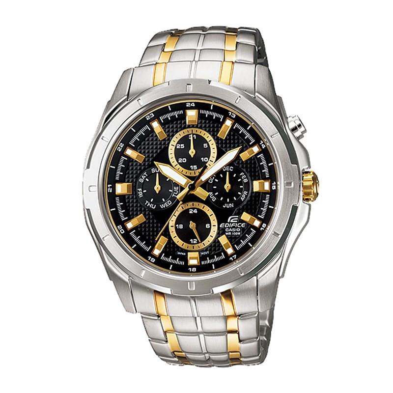 [Mã WTCHMALLTET hoàn 100k xu đơn 499K] Đồng hồ nam Casio Edifice chính hãng cao cấp EF-328SG-1AVUDF,dây kim loại