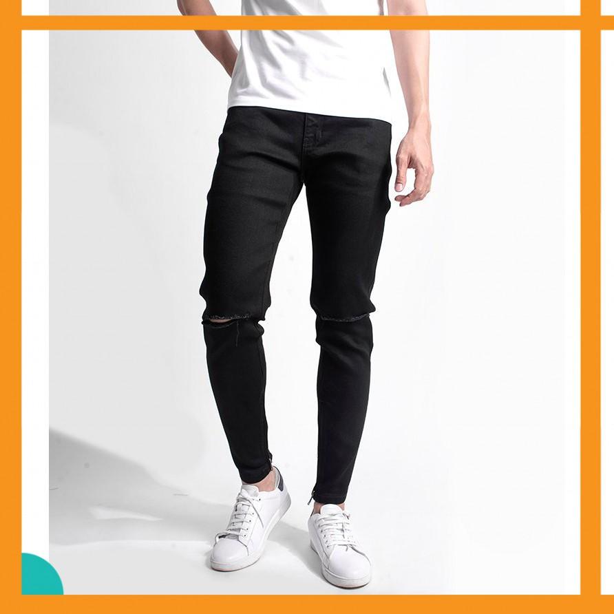 [NG]Quần Jeans Hàn Quốc rách gối cao cấp[TU]