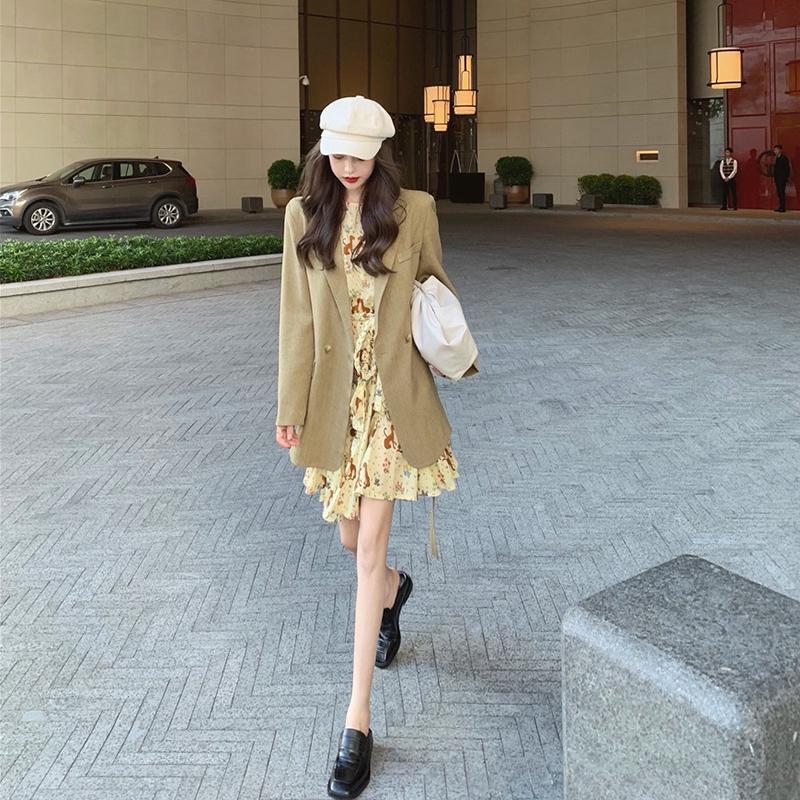 Bộ Áo Khoác + Chân Váy Thời Trang Xinh Xắn Cho Nữ Kiểu Hong Kong