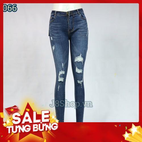 Quần Jean Nữ Lưng Rách Đốm Màu Xanh Size 26-30 Ms d066 - Siêu HOT