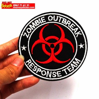 Patch ủi sticker vải - Zombie Outbreak - Response Team