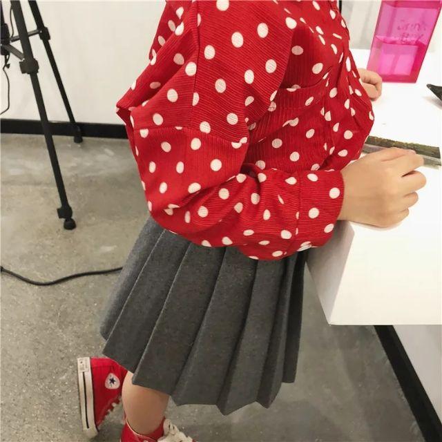 [ORDER] Chân váy dạ xếp li cho bé gái