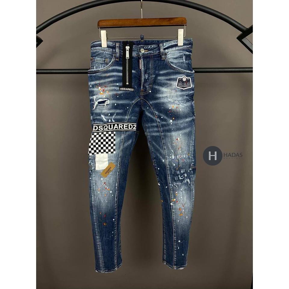 Quần Jean siêu cấp khóa lệch, quần jean nam DSQ