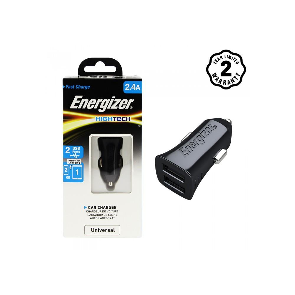 [Freeship toàn quốc từ 50k] Sạc Ô tô Energizer 2 cổng USB 2.4A cho xe hơi - DCA2BHBK3