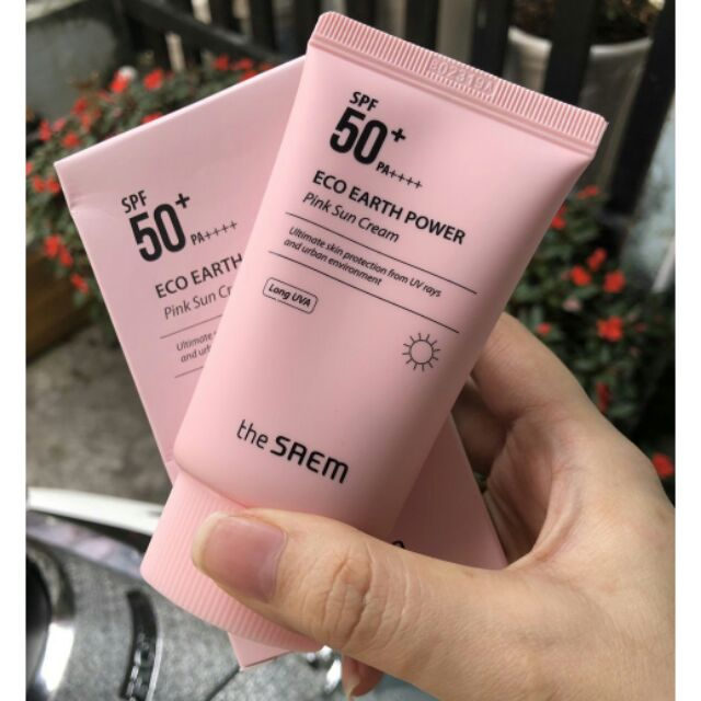 Kem Chống Nắng #The #Seam #Eco Earth Power Pink Sun Cream (SPF 50+/PA)++++