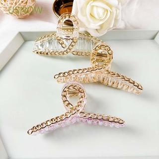 Hình ảnh USNOW Girls Korean Chain Women Plus Size Hair Claw