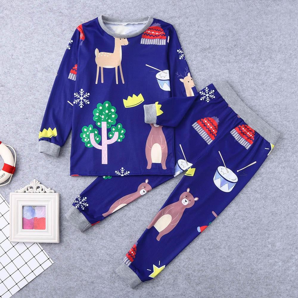 Bộ áo thun + quần dài in hình tuần lộc giáng sinh cho bé