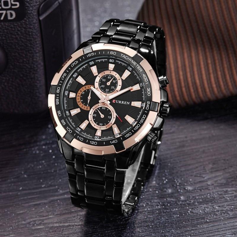 Đồng hồ nam Curren màu đen hồng