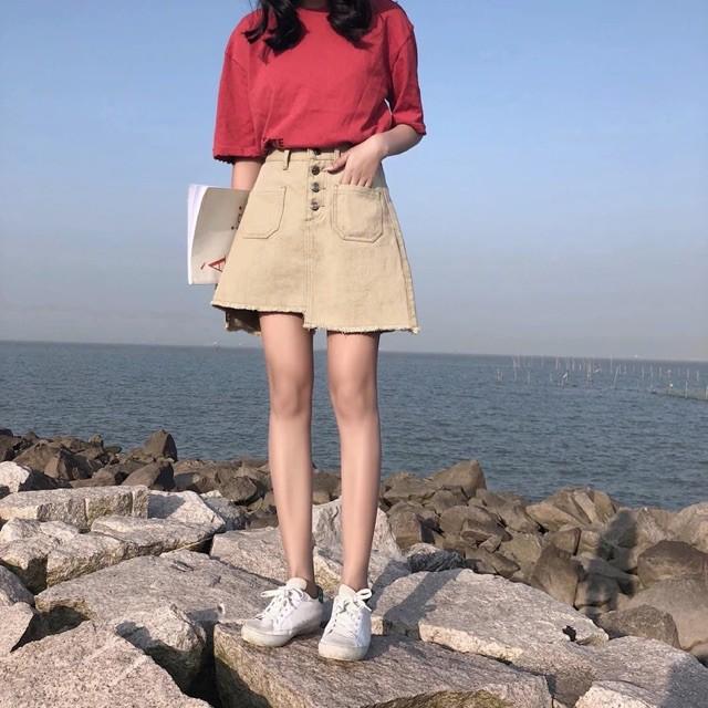 váy nữ - Chân váy ngắn chân váy jean chân váy nữ hàng ord QC cao cấp