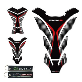 3D Motorcycle Tank Pad Protector Decal Stickers For KAWASAKI NINJA ZX10R ZX-10R