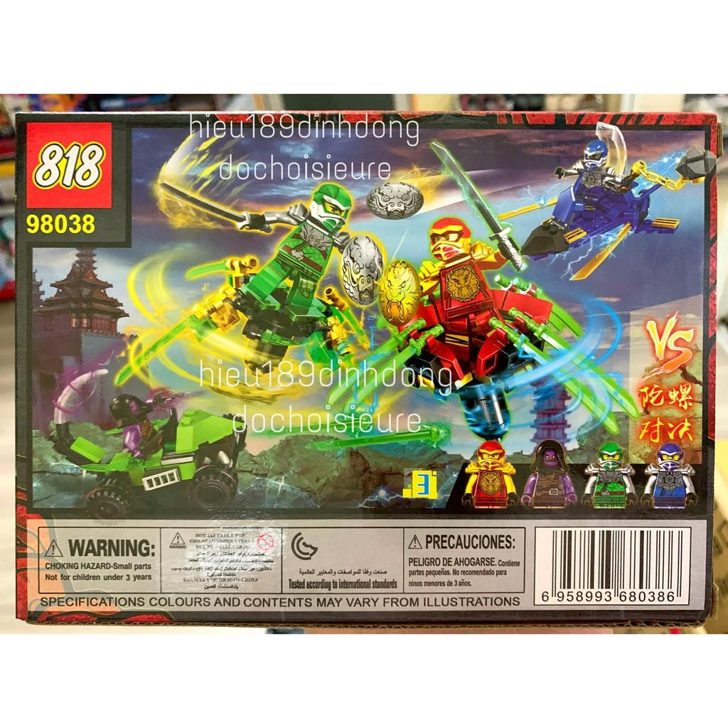 Lắp ráp xếp hình non lego ninjago 98038 : ninja lốc xoáy đỏ Kai 88 mảnh