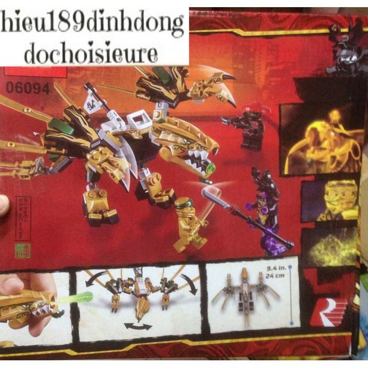 Lắp ráp xếp hình Lego Ninjago 06094: Rồng vàng của ninja golden (ảnh thật)