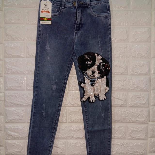Combo quần jean+áo hông+áo kiểu