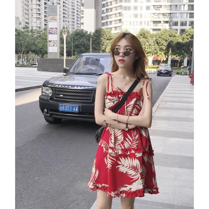 Chân Váy Hoa Thời Trang Đi Biển Xinh Xắn Cho Nữ