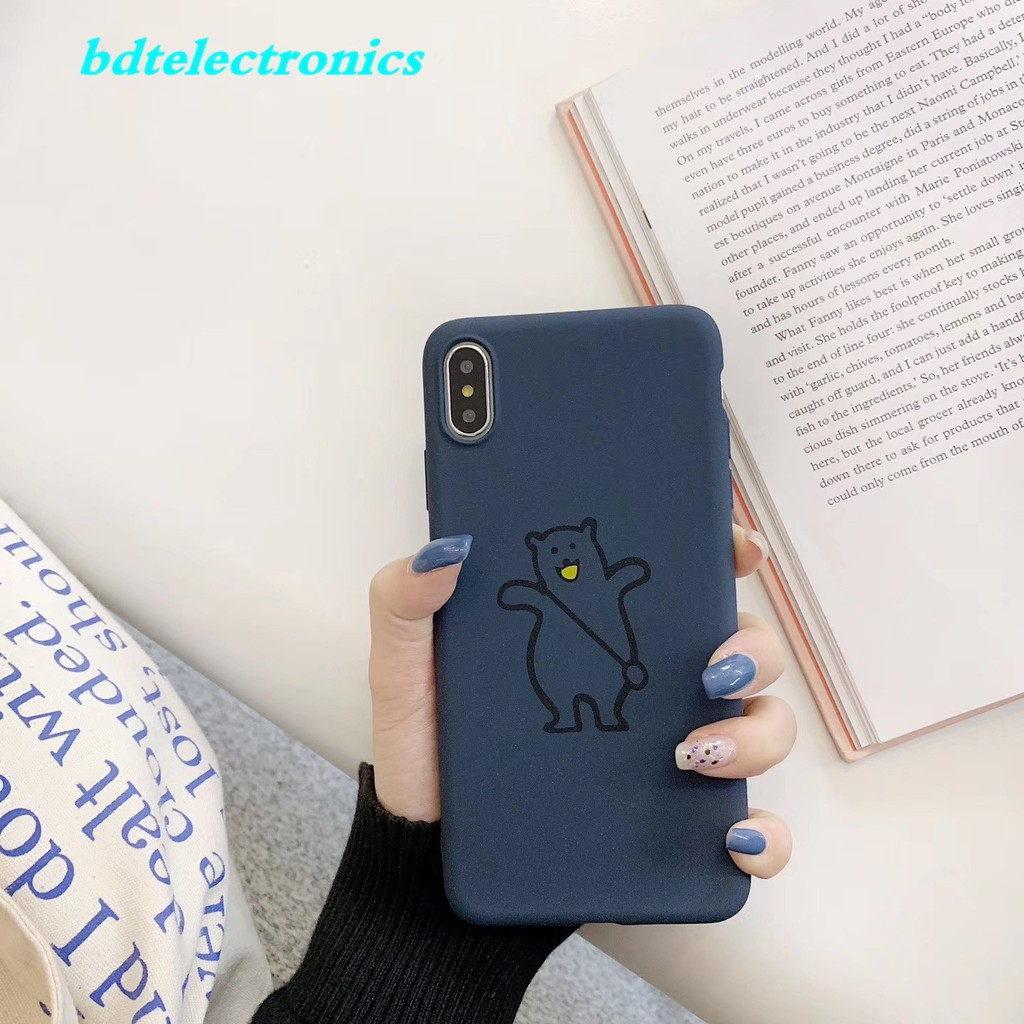 Meizu 16X 16 15 Plus M15 M6S 15 Plus Matte Bear With Bag Cute Case