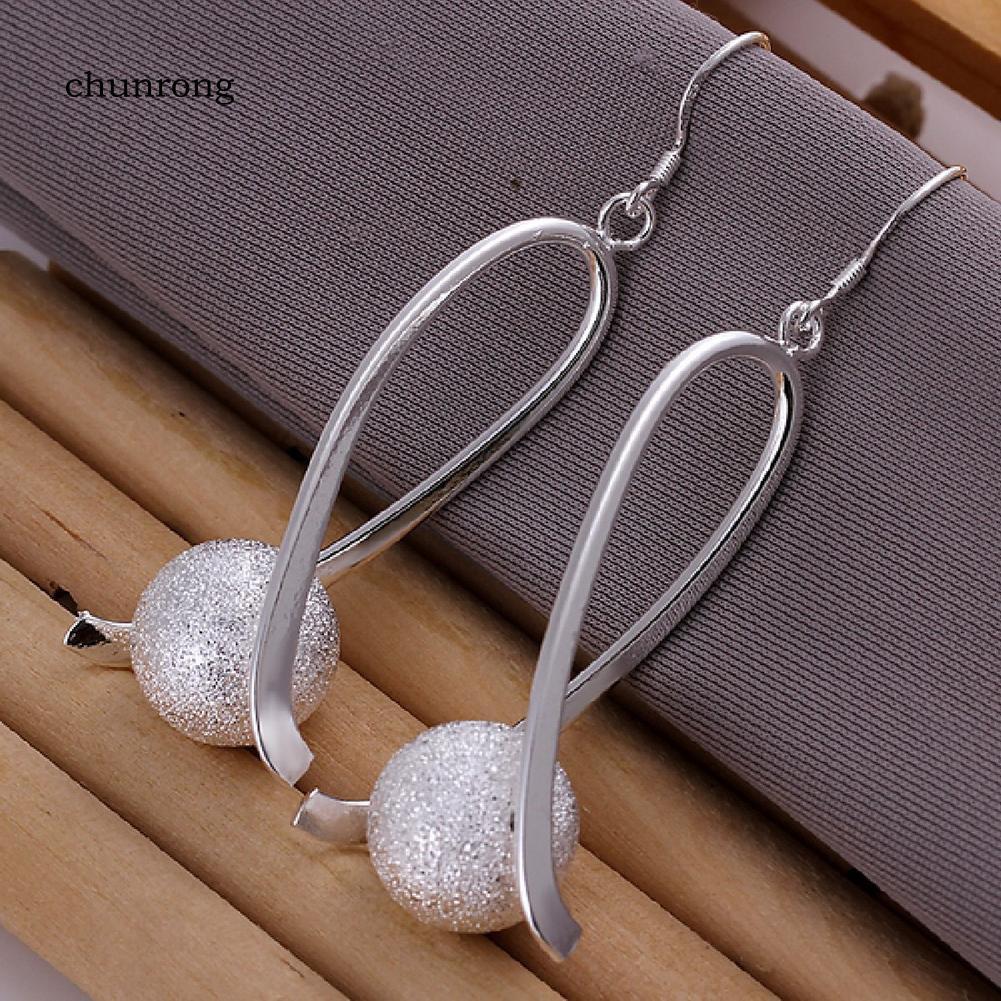 Bông tai mạ bạc đính đá thời trang nữ tính