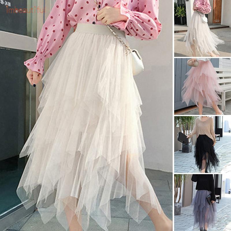 Chân váy lưới dáng chữ A thời trang quyến rũ cho nữ