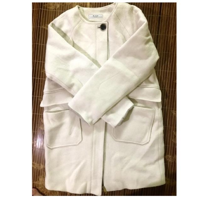 áo Dạ Hàn Dáng Trẻ Màu Trắng Sữa Giảm Chỉ Còn 439000 đ