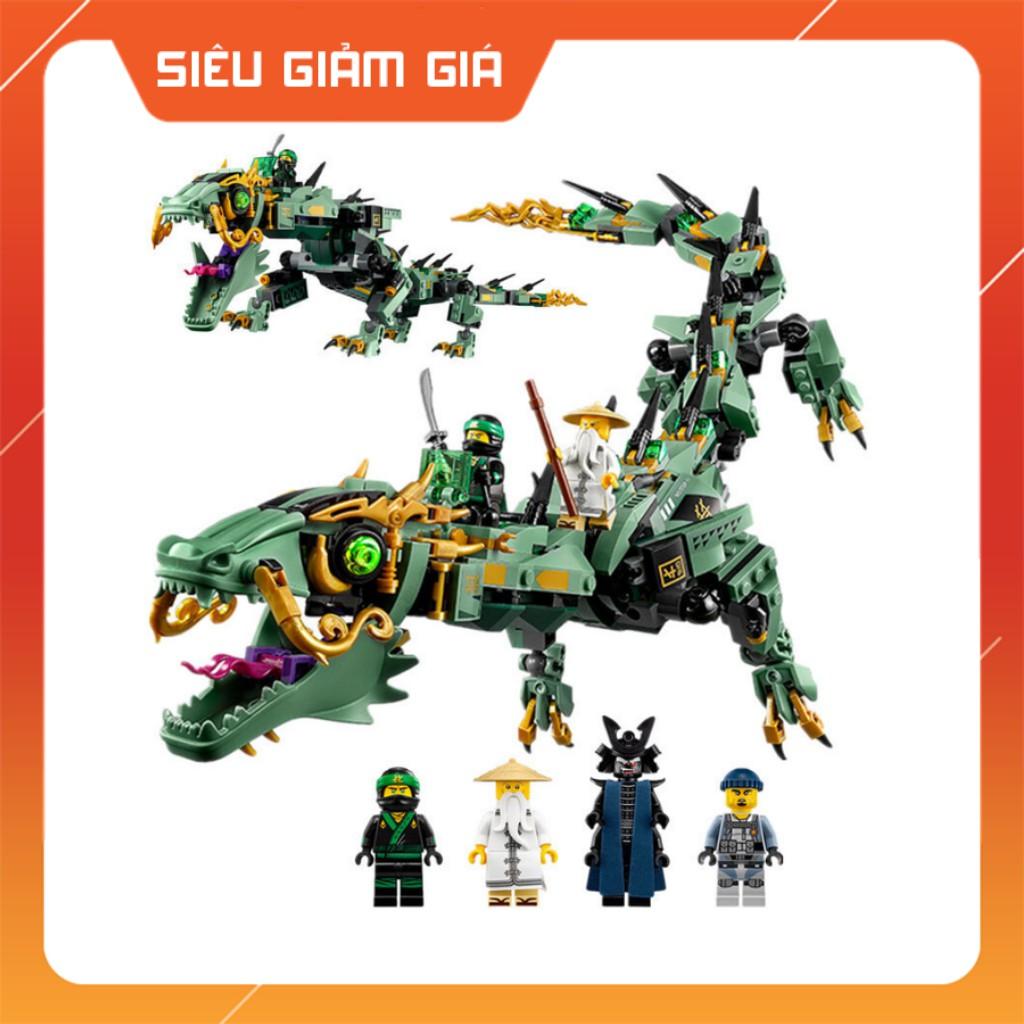 Lego Rồng Xanh Huyền Thoại Ninjago Movie Chiến Binh Bất Bại 592 Khối QUEEN89037 BELA10718