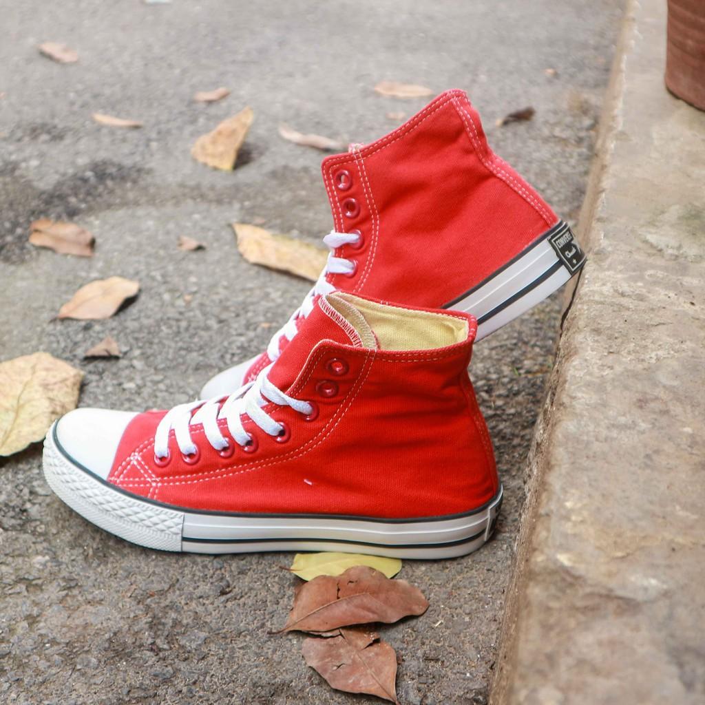[Siêu giảm giá] Giày converse classic cổ cao màu đỏ tươi