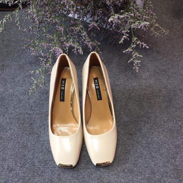 Giày cao gót đế trụ cao 9cm