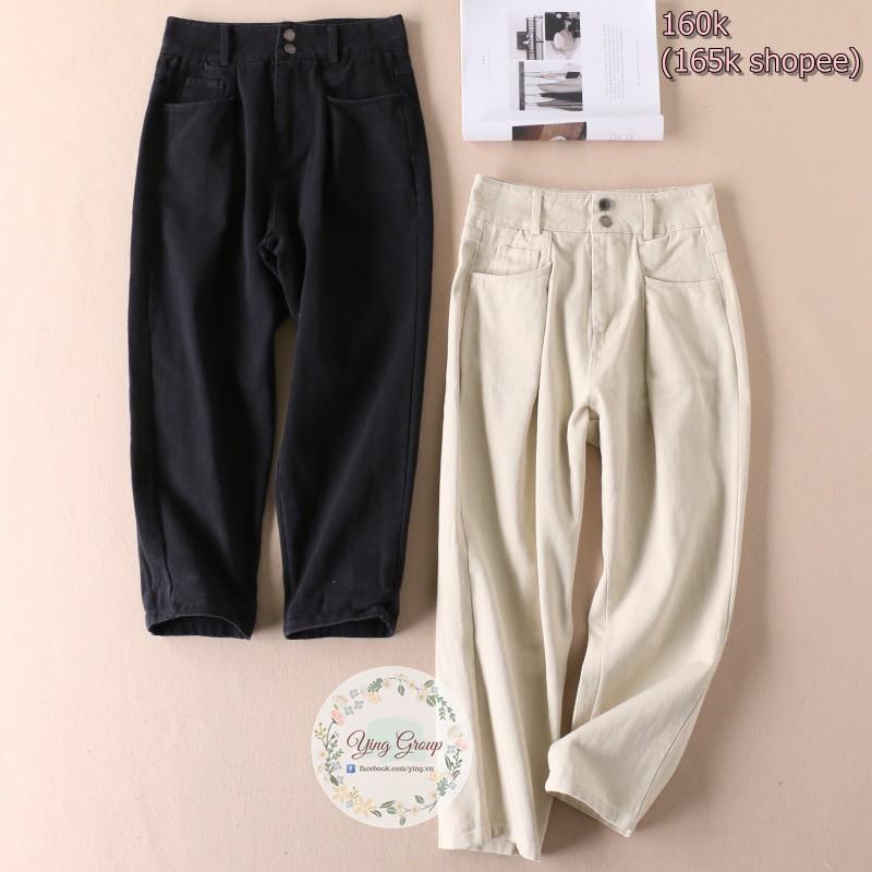 Quần jeans XL và baggy be L