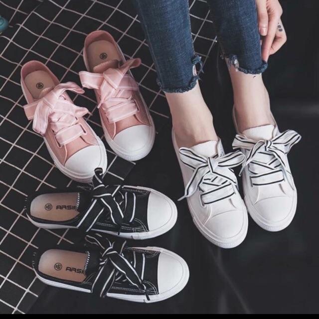 Giày vải ko gót hottrend