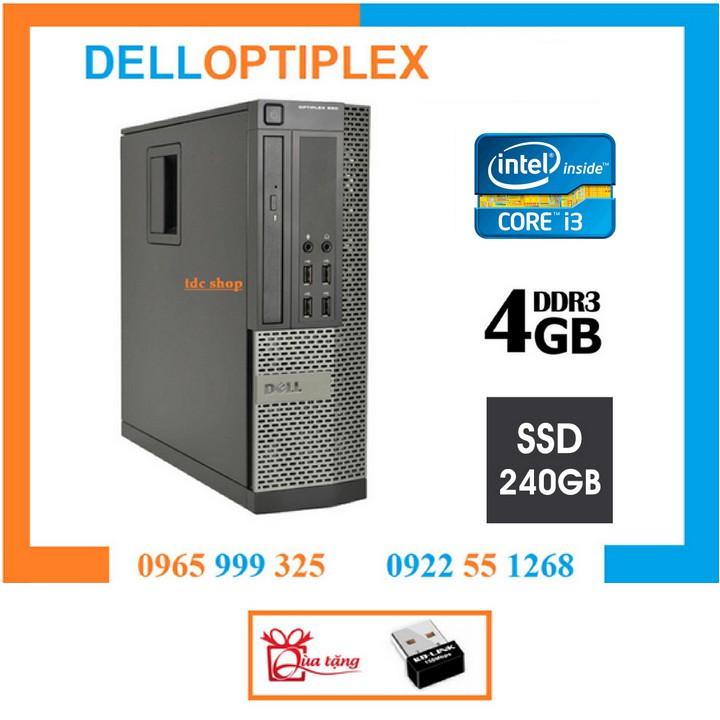 Case máy tính DELL Optiplex 790 chip core i3 2100, ram 4gb, ssd 240gb . Tặng usb wifi. Hàng Nhập Khẩu