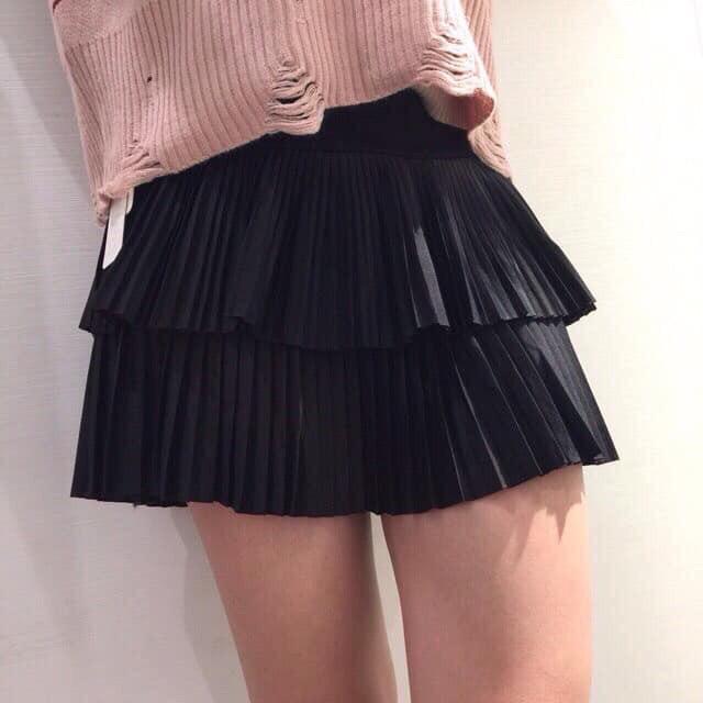 [HOTTREND] Chân váy xếp ly 2 tầng sexy cho chị em