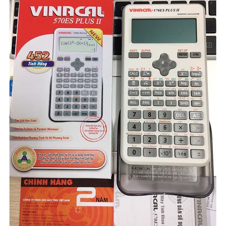 Máy Tính VinaCal 570ES Plus II có tem chống hàng giả