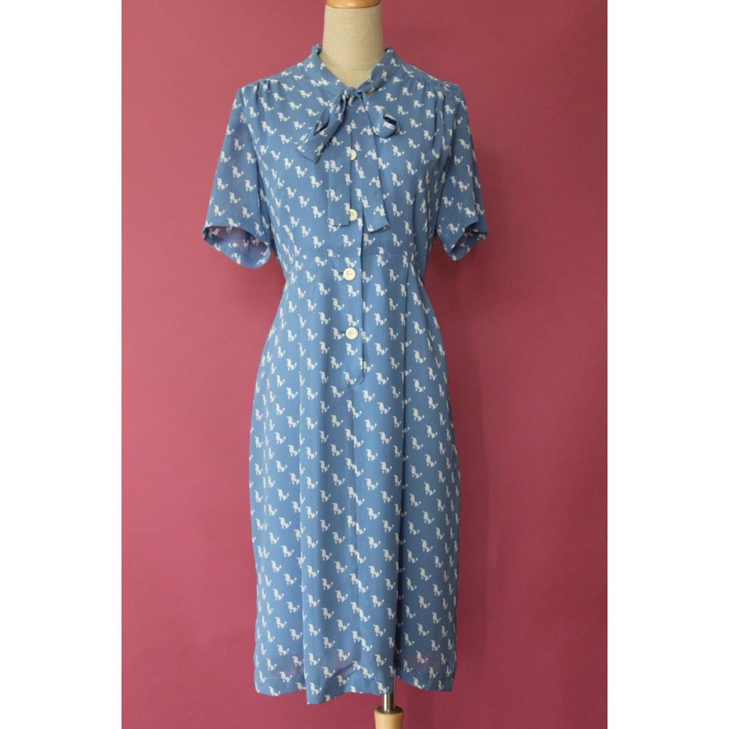 Đầm vintage hoa văn độc đáo