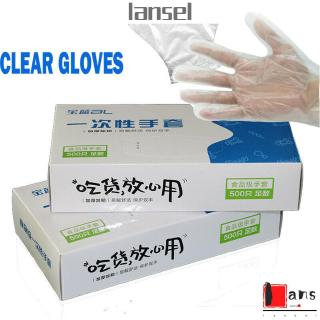 LANSEL 100/500Pcs Catering Restaurant Hygiene Kitchen & Dining Food Cleaning Avoid Direct Touch Disposable Gloves