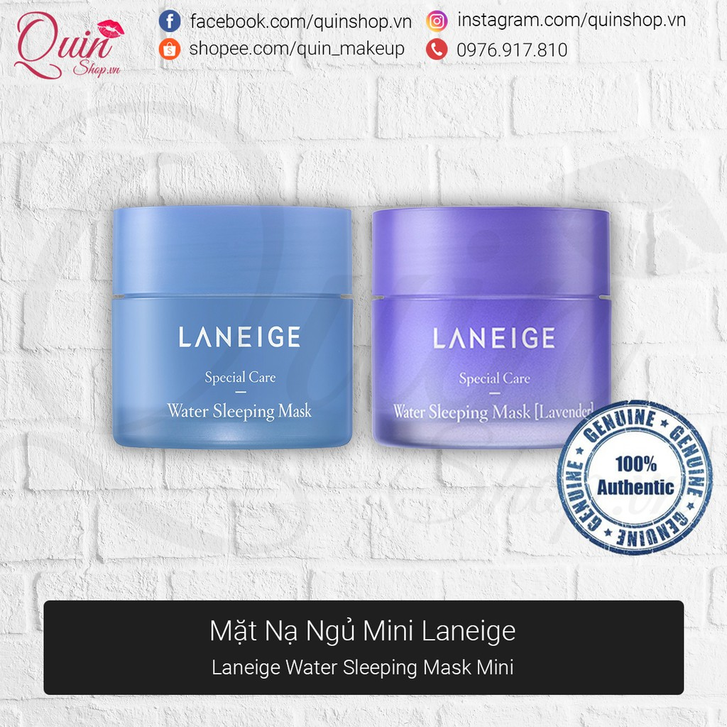 [Quin Cosmetics] Mặt Nạ Ngủ Laneige Water Sleeping Mask Minisize