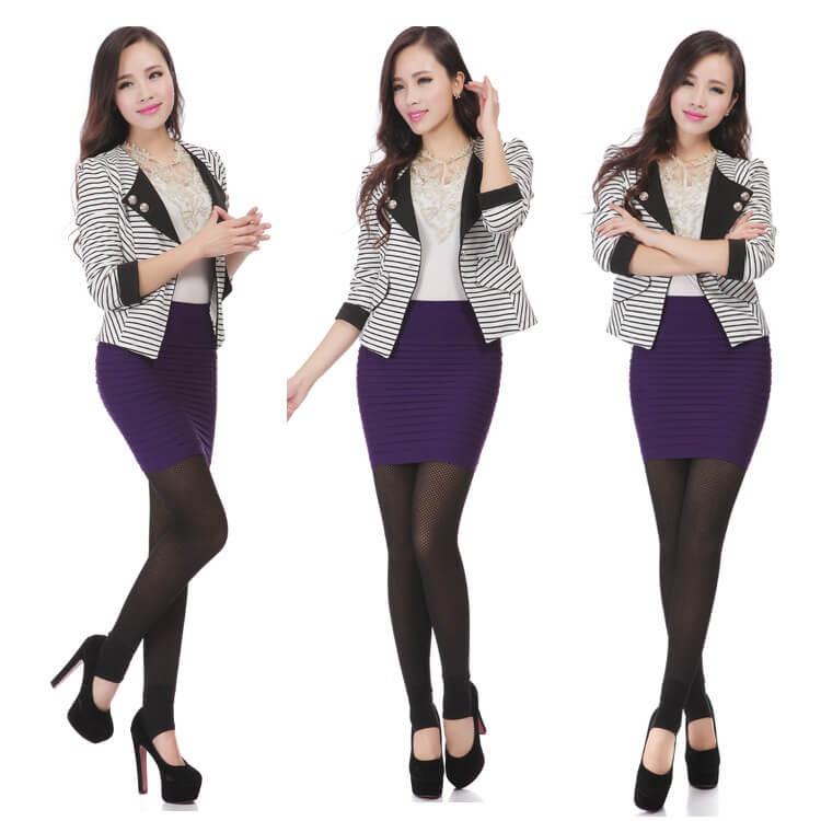 Chân váy ôm xếp ly cực cá tính