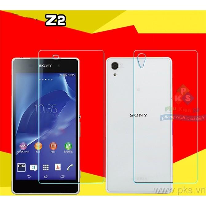 Bộ kính cường lực 2 mặt trước sau Sony Xperia Z2