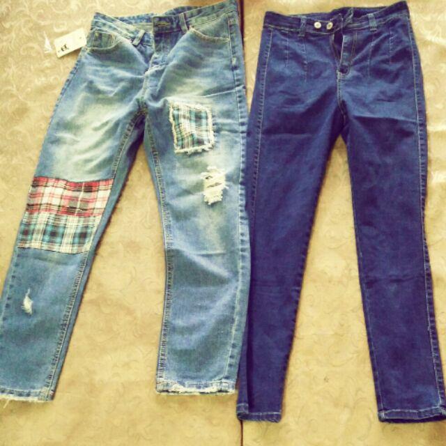 Quần jeans ống rộng cao cấp
